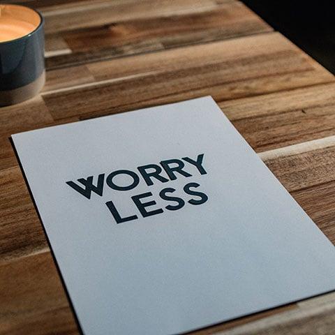 6 tips til at mindske dine bekymringer
